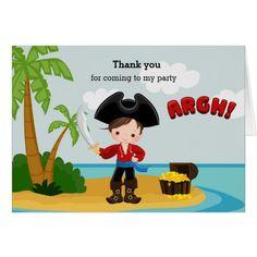 Cute Pirate Card