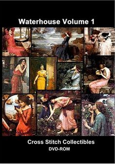 DVD-WA-01 - Waterhouse Vol 1 DVD - All cross stitch patterns - - DVD Collections - Groups & Figures - Pre-Raphaelite - Waterhouse - Cross Stitch Collectibles