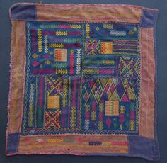 Square cloth from Andhra Pradesh+++Probably 19th Century+++More Banjara textiles and information on my book you will find on my website www.m-beste.de