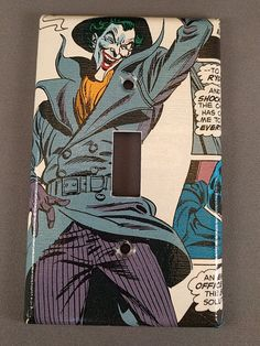 The Joker Comic Book light switch cover by PastePotPrefects