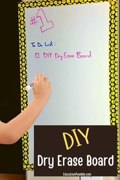 A go-to tool in homeschooling is the dry erase board. But they can be so expensive. Instead of buying a whiteboard to use for school, make one yourself. It's a simple DIY project that takes little time and requires few supplies. Plus, it's completely customizable. Tweens will love creating their own board to use. Diy Crafts For Tweens, Easy Diy Crafts, Dry Erase Board, Whiteboard, Simple Diy, Teacher Gifts, Homeschooling, Gifts For Friends, Encouragement