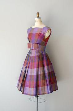 1950s dress / plaid 50s dress / Trillby Plaid dress
