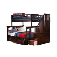 Viv + Rae Henry Twin Bunk Bed with Storage Configuration: Twin over Twin, Finish: Caramel Latte