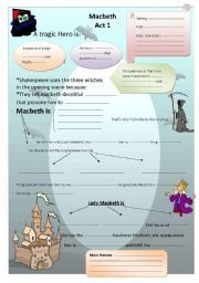 English teaching worksheets: Macbeth