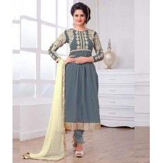 Eid Special Designer Grey Color Party Wear Salwar Suit-2071( OFB-294 )Karishma
