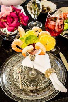 Vanderpump BH Monaco martini, Soho plate and Liza napkin ring