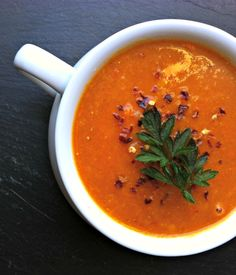 Red Lentil Coconut Soup -- warm rich spices {gluten free and dairy free}  A Cedar Spoon