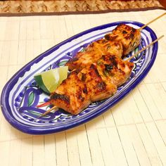Cooking for Kishore: Chili Lime Salmon Skewers