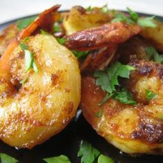 sauteed shrimp with garlic, paprika, parsley and olive oil...