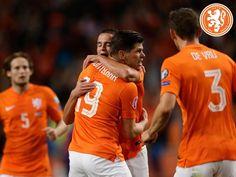 Klaas-jan Huntelaar, Ibrahim Affelay, Daley Blind en Stefan de Vrij #nedkaz
