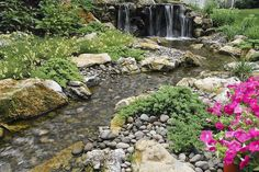 Fun, beautiful and safe for kids...think pondless waterfall and stream