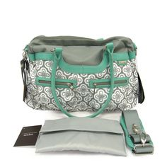 JJ Cole Collections Satchel Diaper Bag - Azure Infinity | Designer Diaper Bags  www.duematernity.com