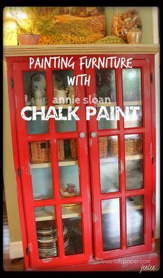 Painting furniture with Annie Sloan Chalk Paint. No sanding, no priming!  www.lollypaper.com