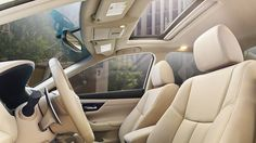 Nissan Altima® 3.5 SL shown in Beige Leather with optional equipment.
