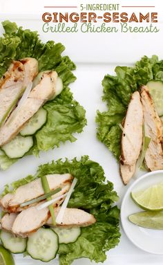 If you're looking for an easy chicken dinner then try this recipe. Use ginger-sesame marinade to give the chicken some flavor.