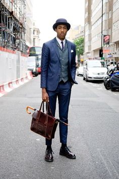 Artillery Millinery hat, River Island suit and waistcoat, Topman tie, Lacoste shirt, Dr Martens bag and shoes. Dandy Look, Dandy Style, Dr Martens Outfit, Dr. Martens, Gentleman Mode, Gentleman Style, Gentleman Fashion, Outfit Man, Sharp Dressed Man