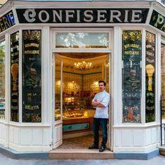 Look at these colorful photos of Paris shop signs and storefronts. PixarPrinting has a collection of vibrant Paris image Cire Trudon, Belle Villa, Shop Fronts, Floor Patterns, Shop Front Design, Shop Window Displays, Shop Interior Design, Store Design, Architectural Digest