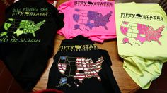 41 of 50 States and 78 of 100 Half Marathons for Fifty States Half Marathon Club member Lenora H & her shirts R ready for raceday! #halfmarathon #running www.halfmarathonclub.com
