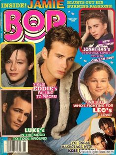 Bop magazine, pre teen girl heaven. Sad that actor Jonathan Brandis ended his life. He was one of my preteen crushes back in the day.