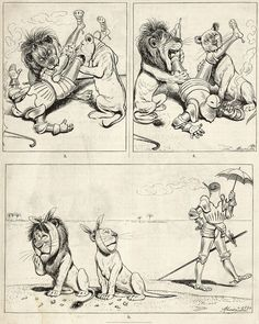 Adolf Oberländer, « Ein Urlaubs-Abenteuer aus der Zeit der Kreuzzüge »,  Fliegende Blätter, vol. 94, n° 2371, 1891.