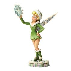 This Disney Traditions Tinker Bell figurine named 'Frost Fairy' forms part of the Jim Shore collection of Peter Pan animation figurines. Tinker Bell is holding a frosted snow flake. Tinkerbell And Friends, Disney Fairies, Disney Magic, Walt Disney, Tinkerbell Disney, Disney Statues, Disney Figurines, Fairy Figurines, Christmas Figurines