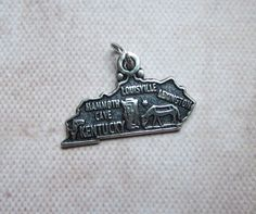 Vintage Kentucky Sterling Travel Souvenir Charm by MiladyLinden