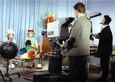 Philips experimental colour television camera test at the BBC, 1963.
