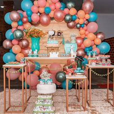 Image may contain: 1 person Birthday Party Decorations For Adults, 2nd Birthday Party Themes, Balloon Centerpieces, Balloon Decorations, Decoration Party, Deco Ballon, Balloons, Instagram, Moana