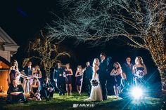 Groups can be shot at night under the right circumstances - off camera flash is a must!