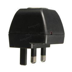 Cigarette Lighter Socket 240V Mains Plug To DC 12V Car Van Charger Power Adapter