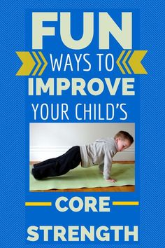 Why core strength is important for your child and fun and easy ways to improve it! Core strength is very important in athletics. Promoting core strength at an early age can be very good for kids down the road. Gross Motor Activities, Gross Motor Skills, Sensory Activities, Therapy Activities, Toddler Activities, Physical Activities, Dementia Activities, Therapy Ideas, Pediatric Occupational Therapy