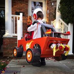 Blaze the Monster Machine and AJ his Driver Costume - Halloween Costume Contest via @costume_works