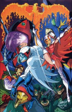 Battle of the Planets (art by J. Battle Of The Planets, Cartoon Shows, Gatchaman, Anime Comics, Planets Art, 80s Cartoons, Art, Anime, Cartoon Art