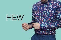 Blue Bird Print Shirt | HEW | NOT JUST A LABEL