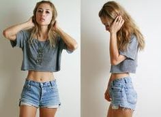 Most likely my go-to outfit this entire summer. High-waisted shorts and crop tops