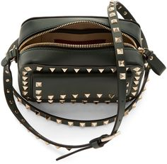 Valentino - Green Small Rockstud Crossbody Bag