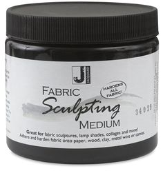 Transform ordinary fabric into sculptures, mixed media collages, home décor items, and more with Jacquard Fabric Sculpting Medium. $19.99