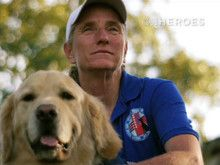 Mary Cortani founder of Operation Freedom Paws. She helps veterans suffering from PTSD. She trains them to train their own service dogs to regain their indendence in daily life.