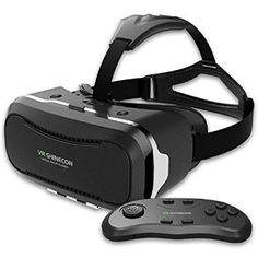 Gear VR Virtual Reality Headset, Koiiko® Shinecon 2.0 3D VR Headset Google Cardboard 3D VR Glasses Mobile VR Headset with Bluetooth Remote Controller & 360 Degree Panoramic Roaming & 120 Degree Field of View for 4.0~6.0 inch Smartphones for 3D Movies, Panoramic Video and Immersing Games