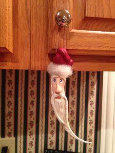 Okra Santa All Things Christmas, Christmas Ideas, Christmas Crafts, Okra Crafts, Deck The Halls, Gourds, Elf, Santa, Craft Ideas