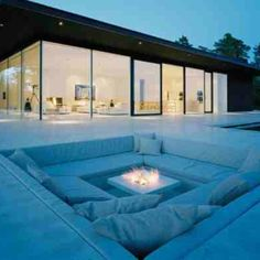 A little out of my league, but I love the idea of a sunken fire pit. Would also be great for a hot tub?