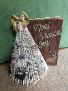 Book Folded Christmas Tree!