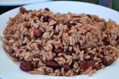 Recipe for Jamaican Rice and Peas...(Caribbean) Good recipe - I did not use bacon nor ham hock.