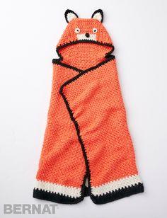 Like A Fox Blanket - Free Crochet Pattern - (yarnspirations)