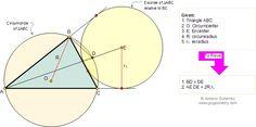 Geometry Problem 156:Triangle, Circumradius, Exradius, Chord, Secant line. School, College, Math Education.