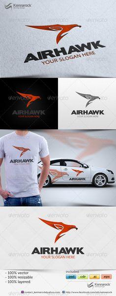 Airhawk  Logo Design Template Vector #logotype Download it here: http://graphicriver.net/item/airhawk-logo/5603291?s_rank=1293?ref=nesto