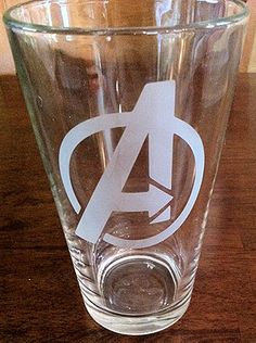 Avengers Logo Glasses Who wouldn't want to host a marathoning party of the pre-Avengers movies, when you had these glasses to hold your guests beverages in? They're pretty awesome!  #Geek Crafts | Tag Archive | buttons