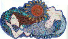 VENDIDO  mosaico arte de la pared un beso en el viento