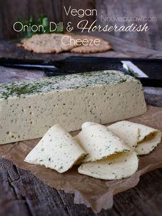 Vegan Onion, Dill & Horseradish Cheez (H-raw, GF, vegan) cashew base