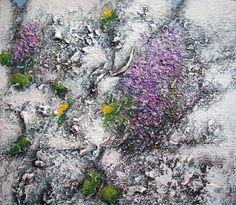 """""""Purple on old stone wall"""" by Eileen Keelan"""